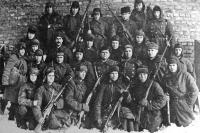 Боевой отряд, вышедший из окружения под Старым Осколом. 1941 г.