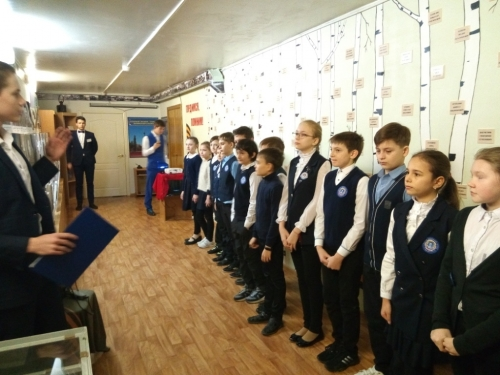 Посещение школьного музей «Наследие»