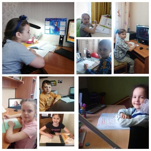 Ученики начальных классов активно включились в работу с применением электронного обучения и дистанционных образовательных технологий