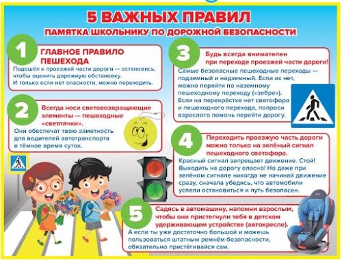 5 важных правил по дорожной безопасности