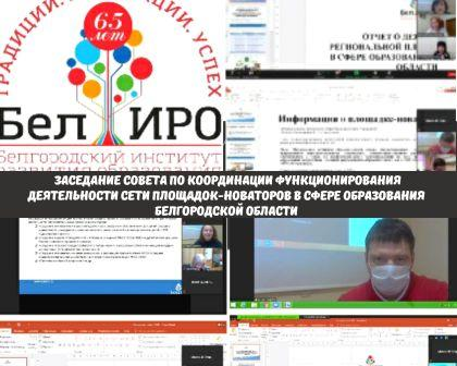 Заседание совета по координации функционирования деятельности сети площадок-новаторов в сфере образования Белгородской области
