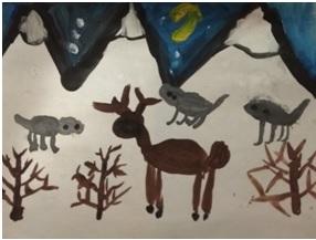Творческий дистанционный конкурс  «Помоги снежинке найти дом»